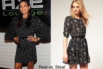 Real vs. Steal: Get Rosario Dawson's Star Print Dress for Less