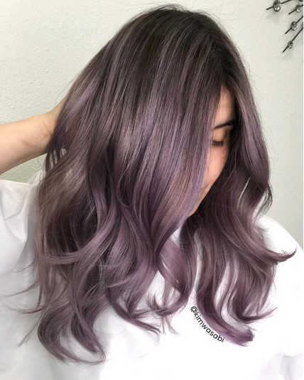 Dusty Lavender Metallic Hair Shades With Just The Right