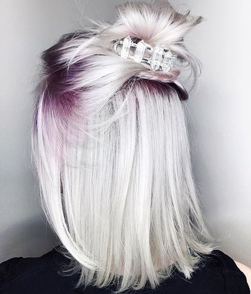 Ombre Roots With Ice Crown
