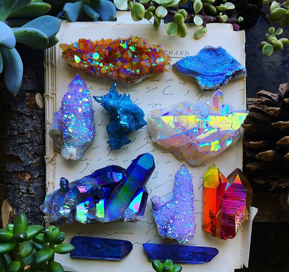 Cleanse crystals and gemstones.