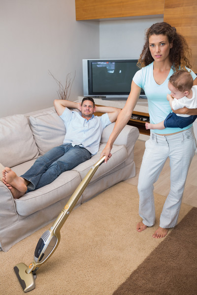 You're doing chores while your family relaxes
