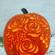 Carved Flower Bouquet Pumpkin