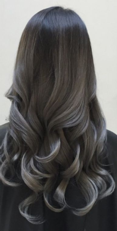 dark grey balayage 21 pinterest looks that will convince you to dye your hair grey livingly. Black Bedroom Furniture Sets. Home Design Ideas