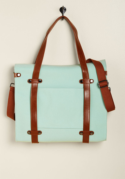 ModCloth Camp Director Snapped Tote In Mint