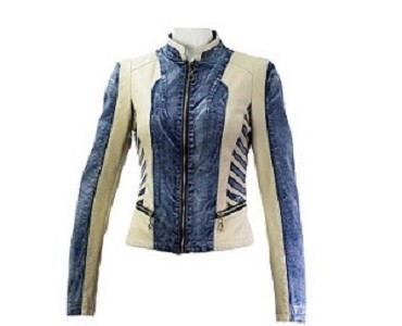 Coalition LA Denim Sleeve Faux Leather Jacket