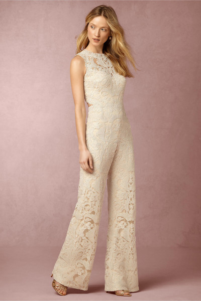 Ivory lace jumpsuit edgy and elegant wedding suits for - Jumpsuit zur hochzeit ...