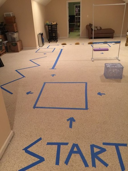 Create an indoor obstacle course