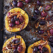 Roasted Squash with Shallots, Grapes, & Sage