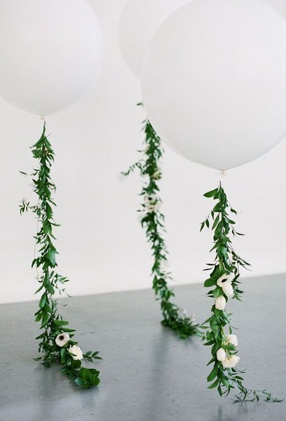 Balloons With Garland Tails
