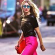 Pair Leather With a Pop of Hot Pink Color