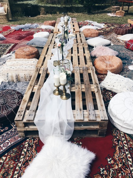 Crate Tables and Pillow Seats