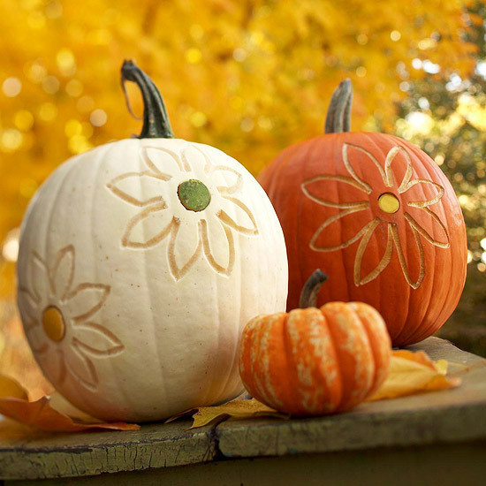 Flower pumpkins fabulous pumpkin decorating ideas