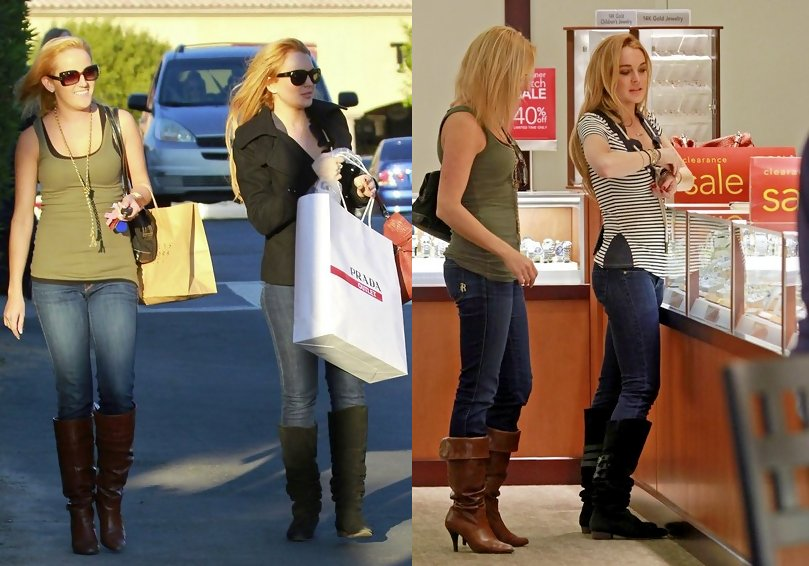 16f657c968 Lindsay Lohan Engages in Retail Therapy at Cabazon Prada Outlet ...