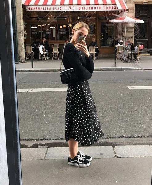 Match Dresses With Sneakers