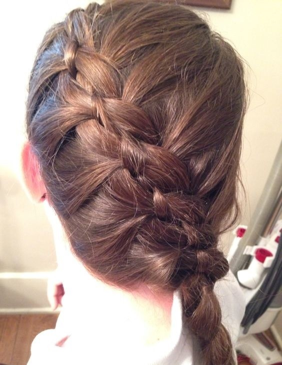 Side Dutch Braid With 4 Strands.