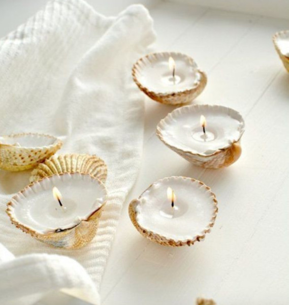 DIY Seashell Candle Idea