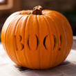 Boo Carved Pumpkin
