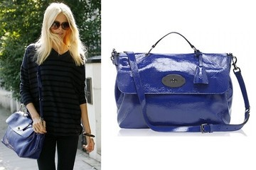 Claudia Schiffer Totes Mulberry in London