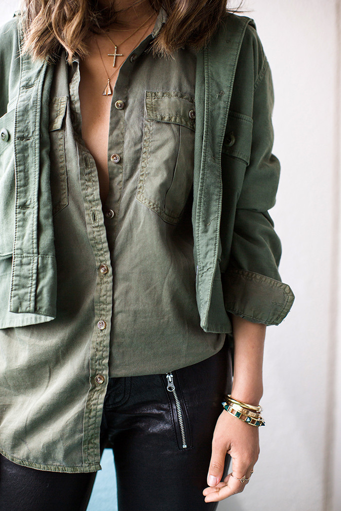 Military Green - Chic Green Outfit Ideas - Livingly