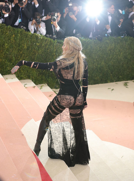 In Sheer Black Lace Riccardo Tisci For Givenchy At The 2016 Met Gala