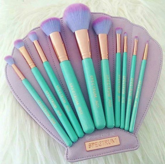 Shell Makeup Brush Kit