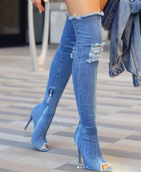 Denim Stilettos