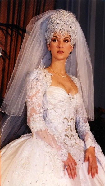 Celine Dion - The Most Expensive Celebrity Wedding Dresses - Livingly