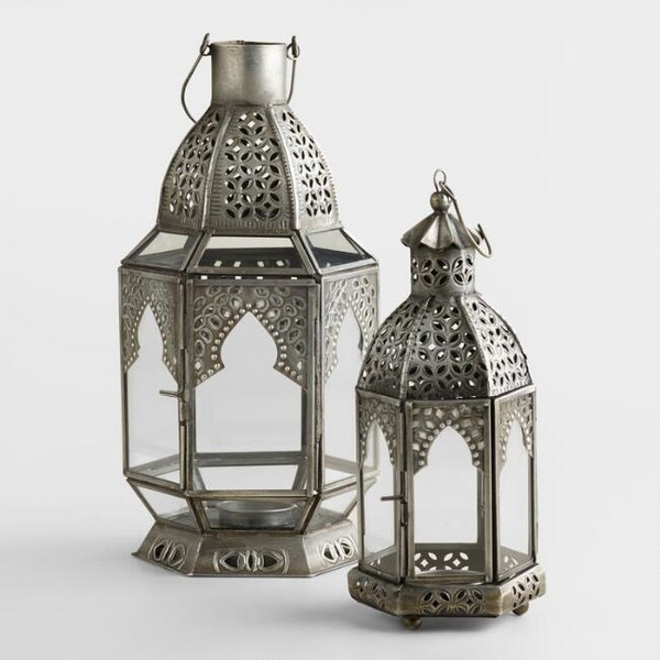 Antiqued Zinc Latika Lantern