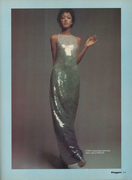 Pat Cleveland in Ombre Sequins
