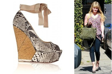 Tie One on: Hilary Duff's Lanvin Wedges