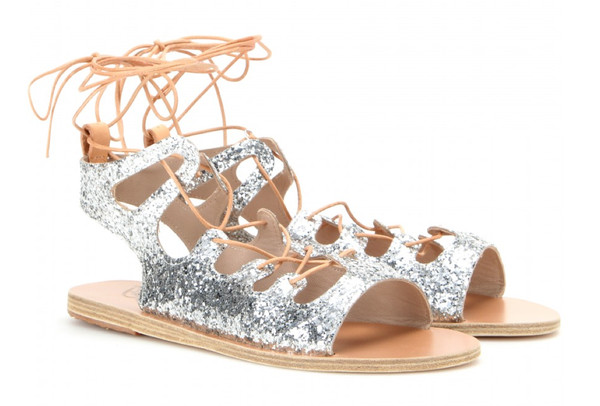 7d897c6a7695 Glitter gladiator sandals - Sparkly Shoes for Summer - Livingly