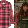 Mindy Kaling's Red Plaid Button-Down on 'The Mindy Project'