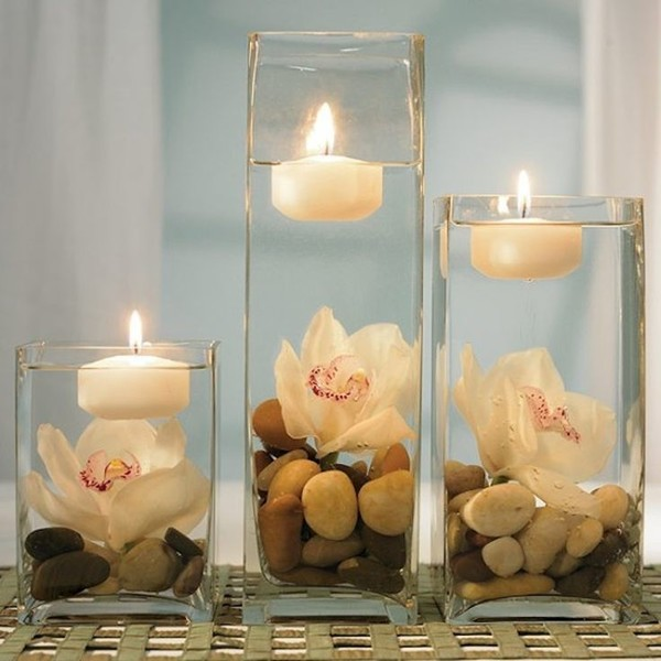 Relaxing Floating Candles Idea