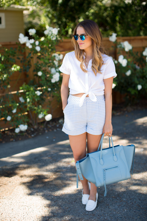 Summer Shorts - Darling Gingham Outfit Ideas - Livingly