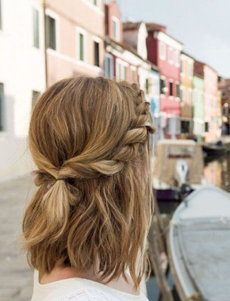Twisted Half-Updo