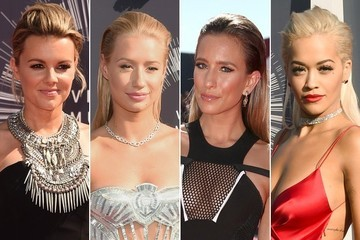 Best VMA Hairstyles -- Slicked-Back Strands