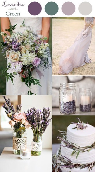 Lavender and Soft Green