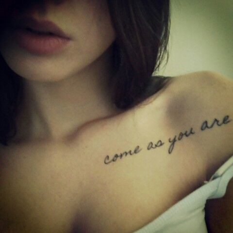 Come as you are lyric tattoos for every music lover for Where do tattoos come from