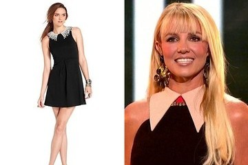 Britney Spears' Peter Pan Collar Dress on 'The X Factor'