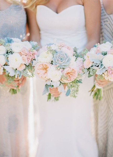Desert Cream & Blush Bouquet