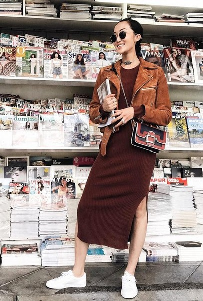 Mix Sweater Dresses With Motto Jackets