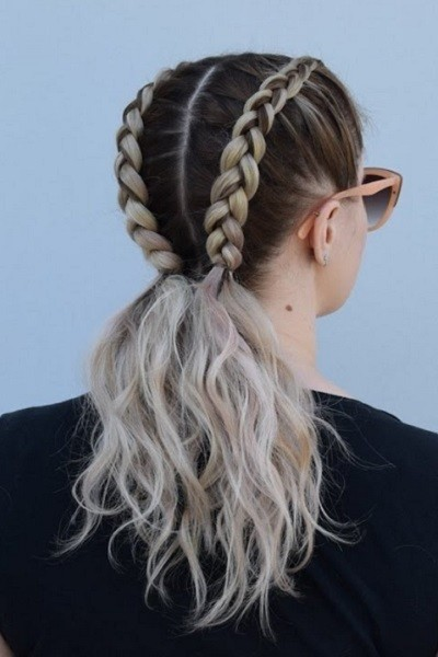 Double Dutch Braid Pigtails Fun Hairstyle Ideas For When