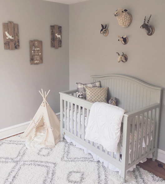 Adorable Nursery Idea: Gray Animal-Inspired Nursery