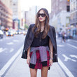A Plaid Mini and Moto Jacket