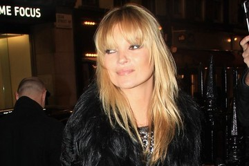 Kate Moss Debuts New Bangs