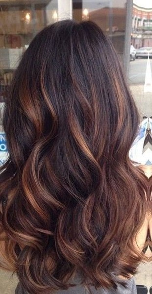 Brunette With Auburn Balayage
