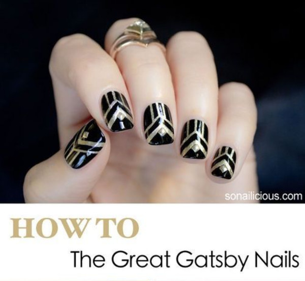 How To: 'Great Gatsby' Nails