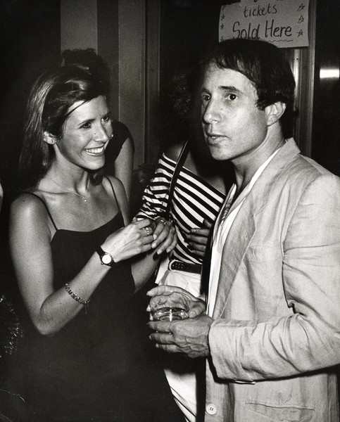 1980: Paul Simon And Carrie Fisher