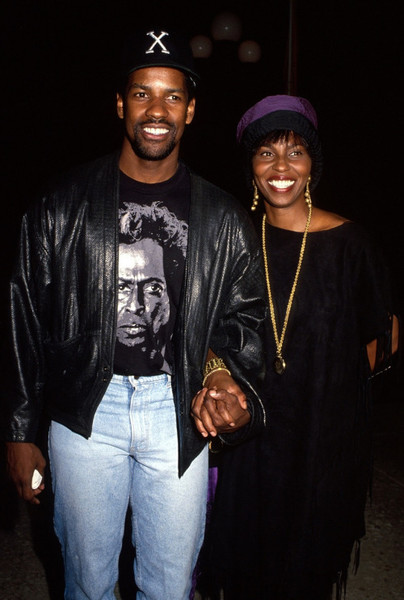 Denzel and Pauletta Washington Then