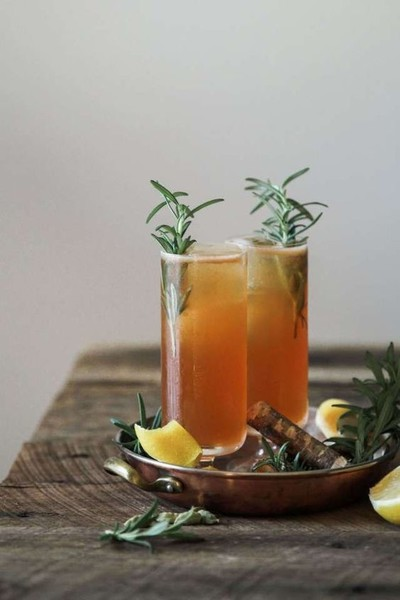 Ginger, Cardamom and Rosemary Gin Cocktail
